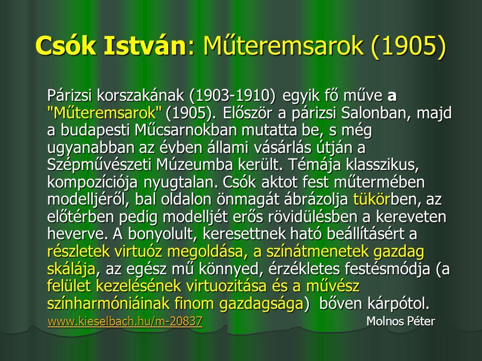 Csók István: Műteremsarok (1905)