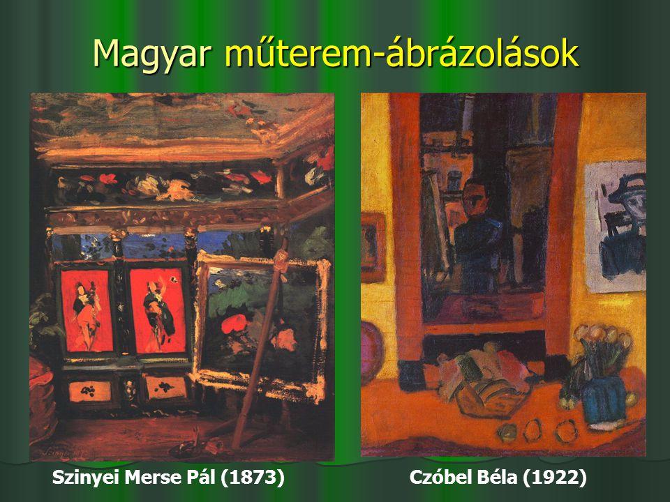 Magyar műterem-ábrázolások
