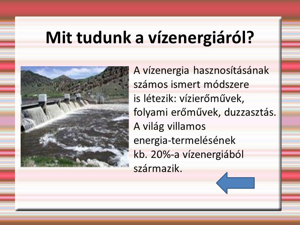 Mit tudunk a vízenergiáról