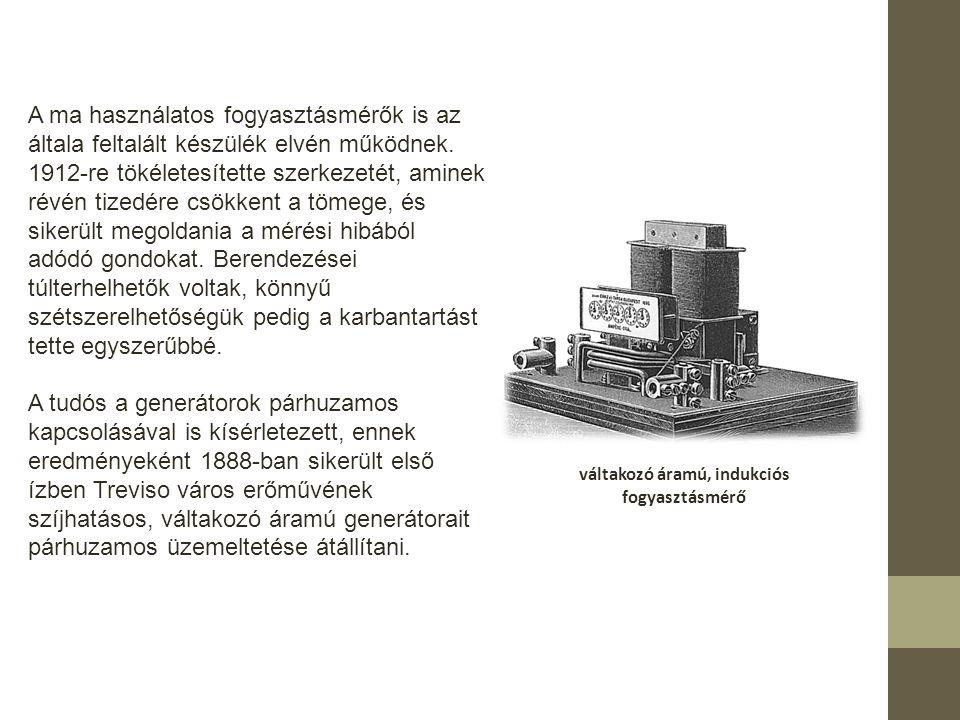 váltakozó áramú, indukciós fogyasztásmérő