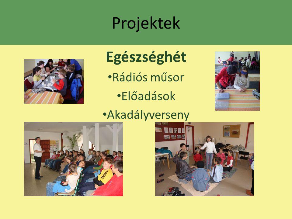 Projektek Egészséghét Rádiós műsor Előadások Akadályverseny
