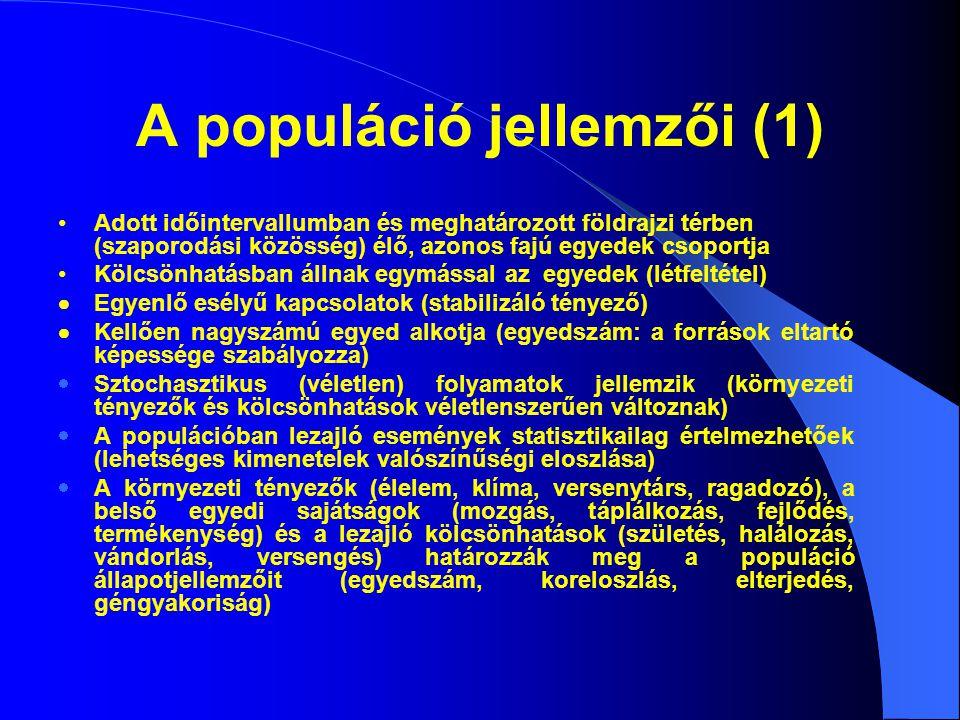 A populáció jellemzői (1)
