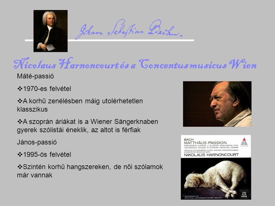 Nicolaus Harnoncourt és a Concentus musicus Wien