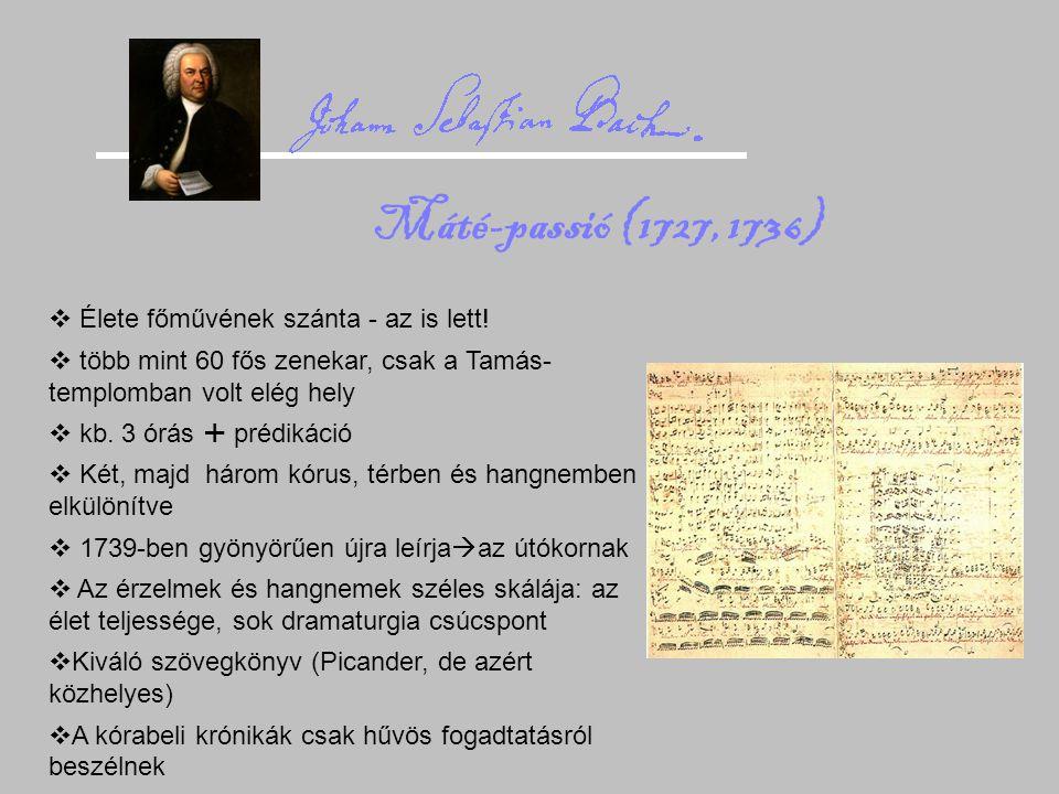 Máté-passió (1727, 1736) Élete főművének szánta - az is lett!