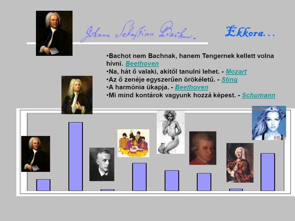 Ekkora… Bachot nem Bachnak, hanem Tengernek kellett volna hívni. Beethoven. Na, hát ő valaki, akitől tanulni lehet. - Mozart.