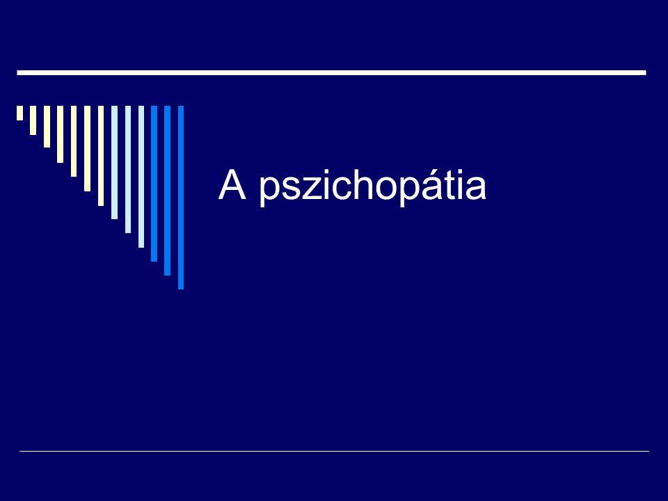 A pszichopátia