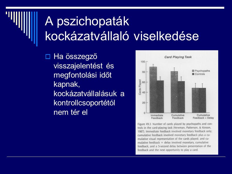 A pszichopaták kockázatvállaló viselkedése