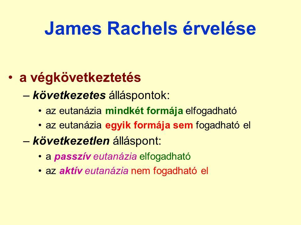 James Rachels érvelése