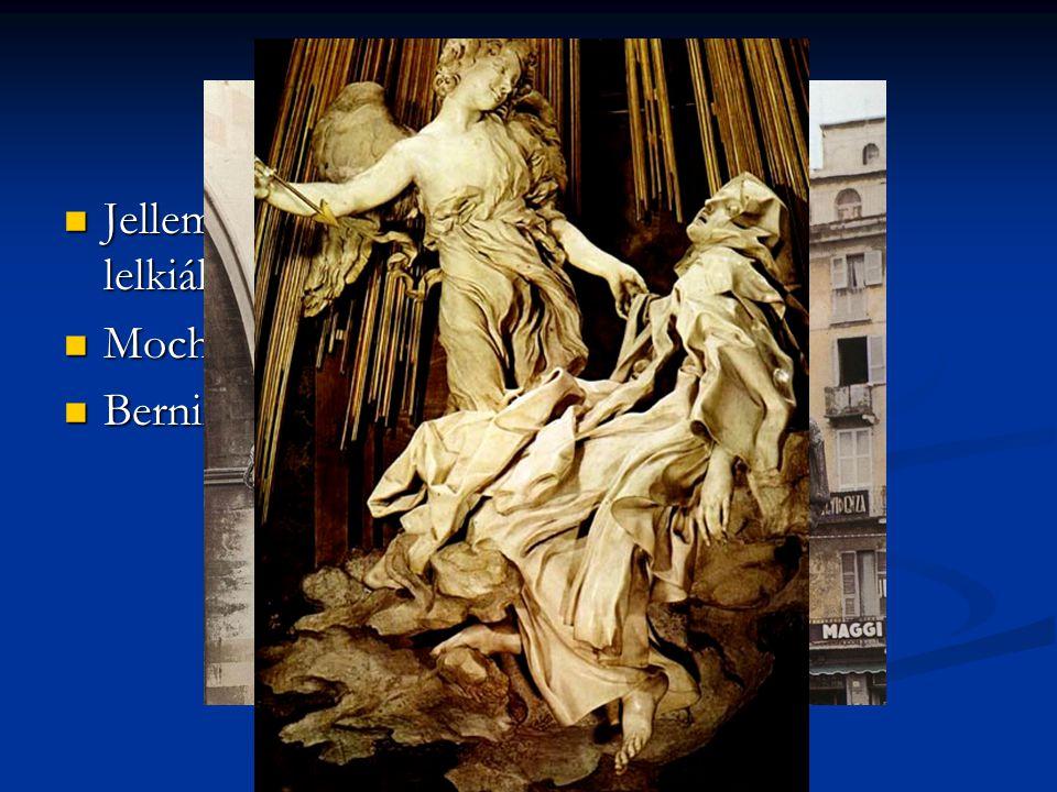 A barokk szobrászat Jellemzői: felfokozott mozgás, érzelmek, lelkiállapot. Mochi: Farnese lovas szobra.