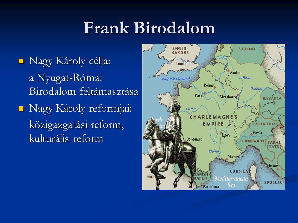 Frank Birodalom Nagy Károly célja: