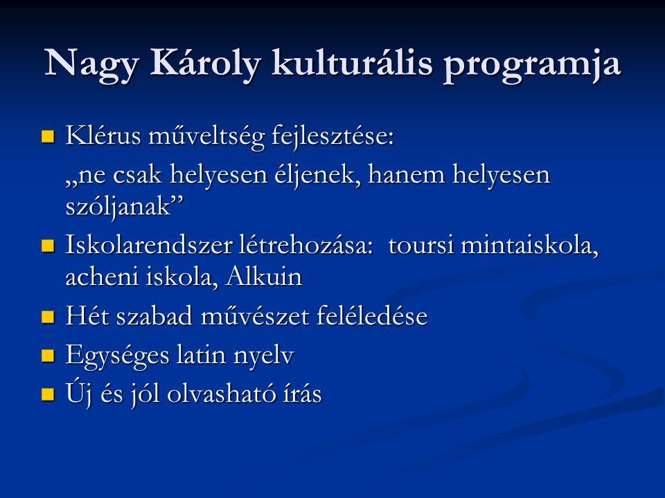 Nagy Károly kulturális programja