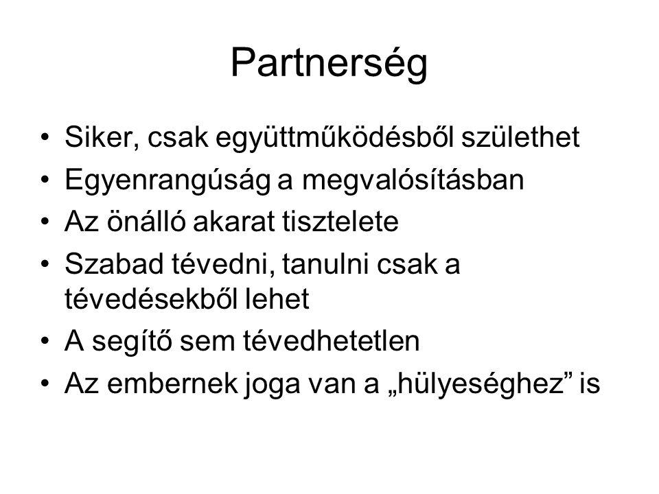 Partnerség Siker, csak együttműködésből születhet