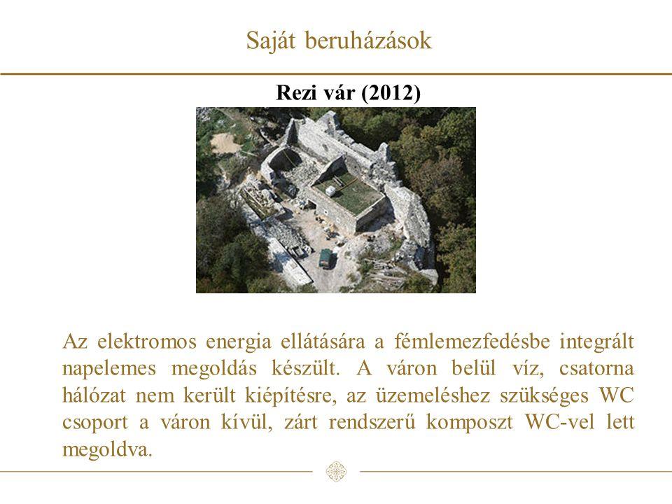 Saját beruházások Rezi vár (2012)