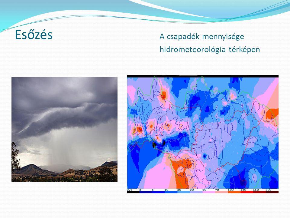 Esőzés A csapadék mennyisége hidrometeorológia térképen
