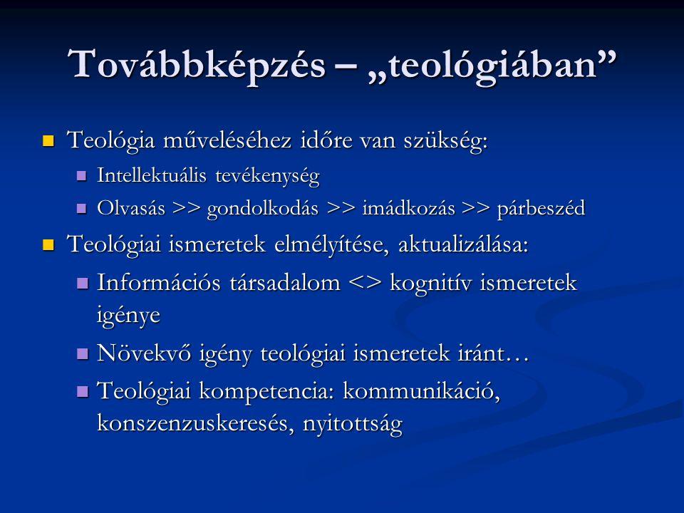 """Továbbképzés – """"teológiában"""