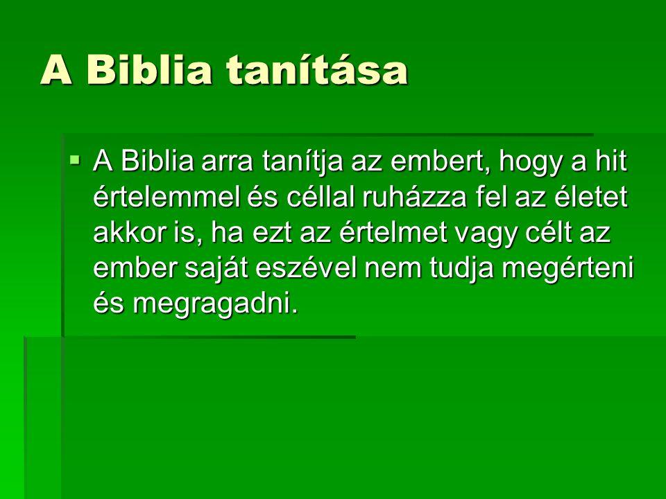 A Biblia tanítása