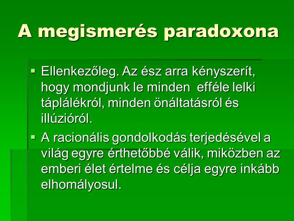 A megismerés paradoxona