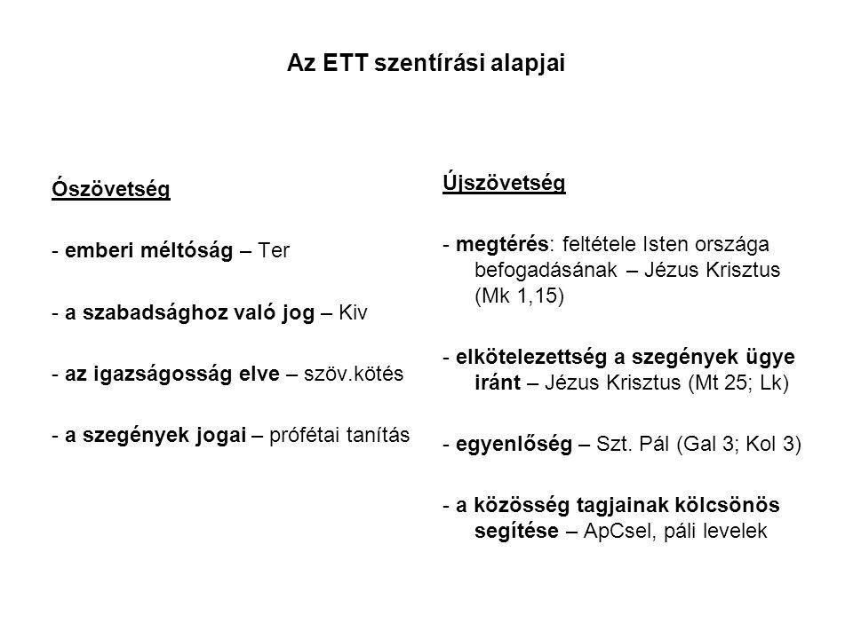 Az ETT szentírási alapjai