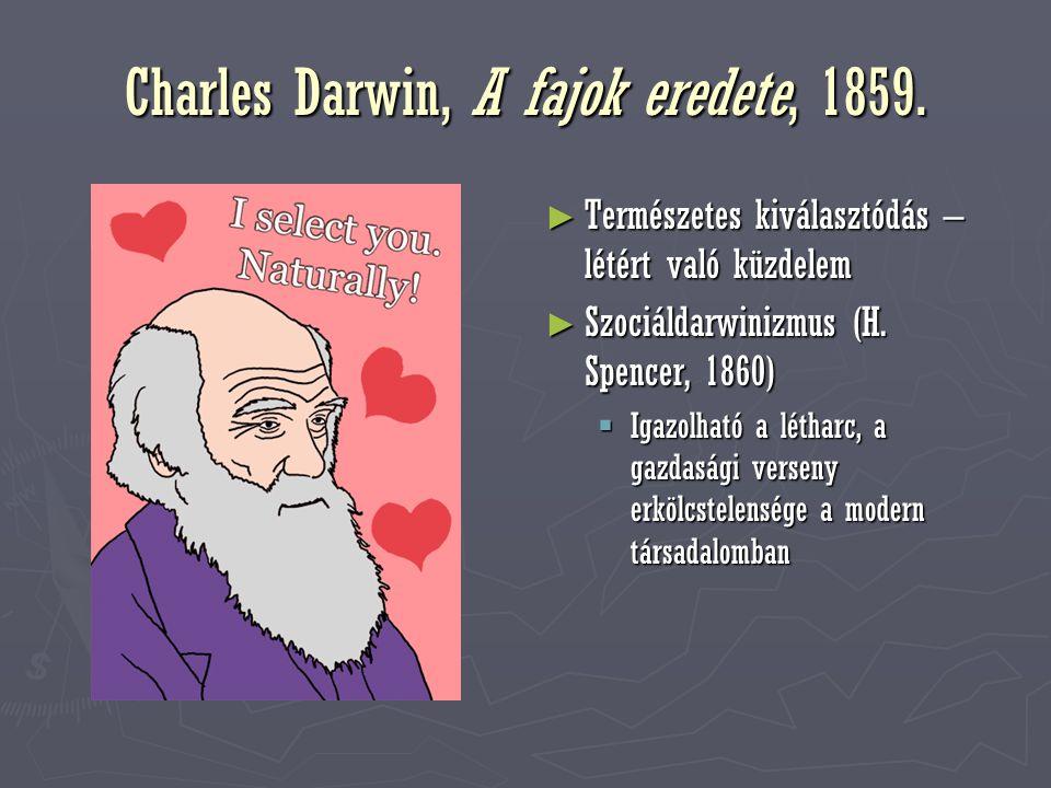 Charles Darwin, A fajok eredete, 1859.