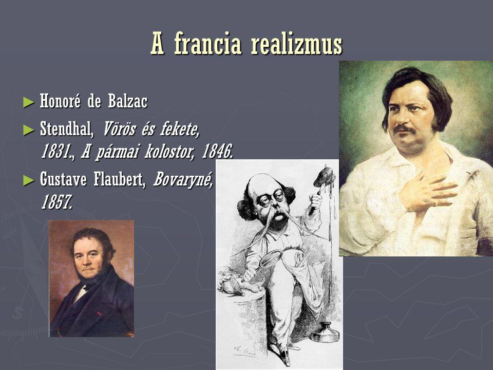 A francia realizmus Honoré de Balzac