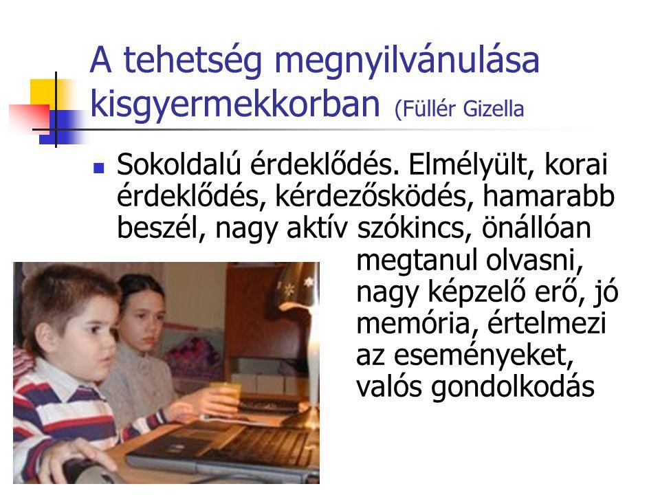 A tehetség megnyilvánulása kisgyermekkorban (Füllér Gizella