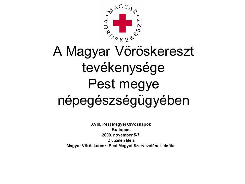A Magyar Vöröskereszt tevékenysége Pest megye népegészségügyében
