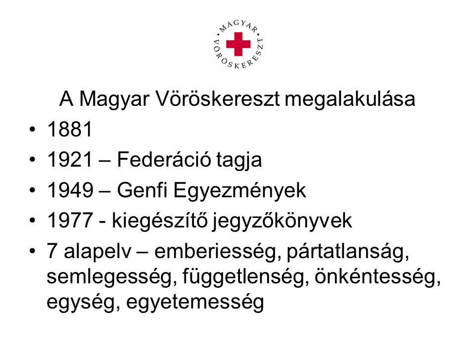 A Magyar Vöröskereszt megalakulása
