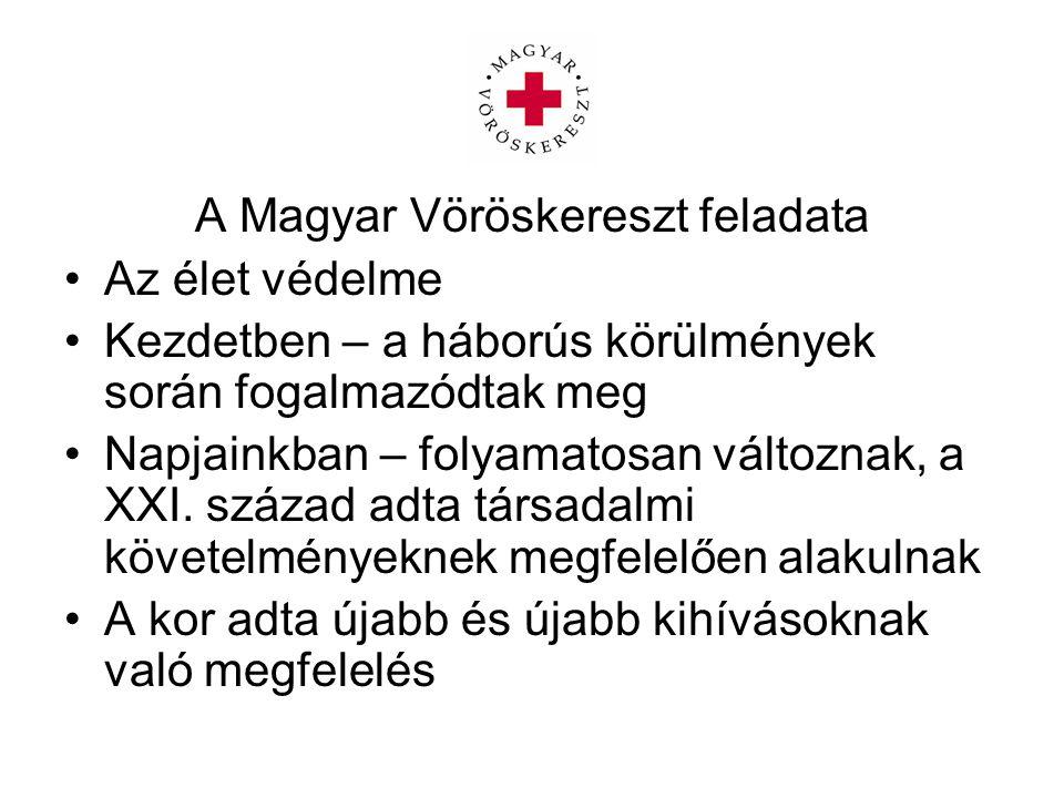 A Magyar Vöröskereszt feladata