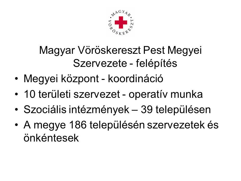Magyar Vöröskereszt Pest Megyei Szervezete - felépítés