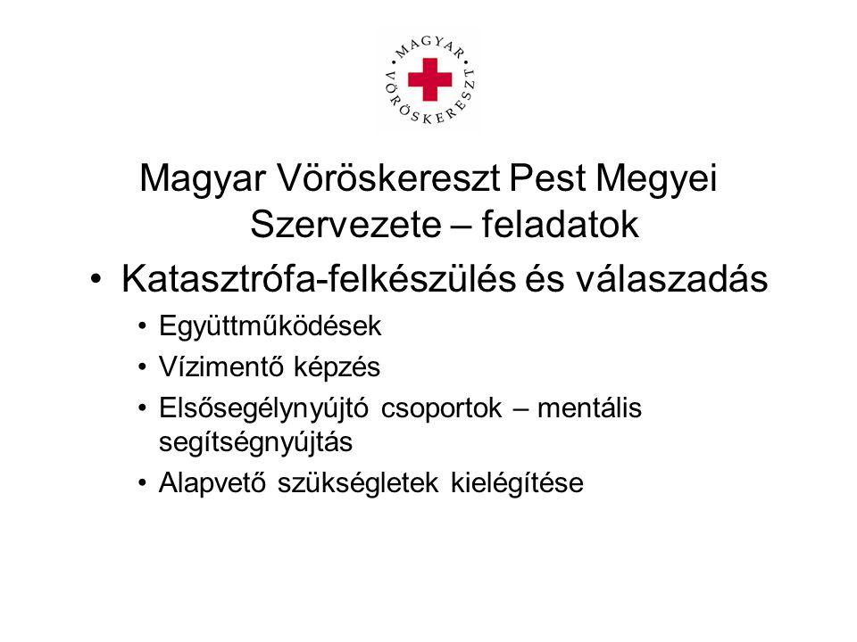 Magyar Vöröskereszt Pest Megyei Szervezete – feladatok