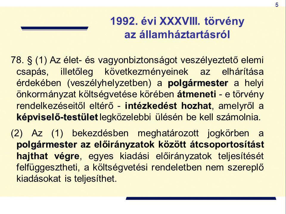 1992. évi XXXVIII. törvény az államháztartásról
