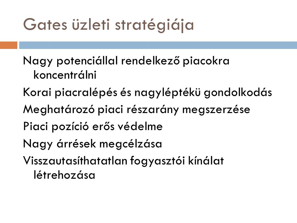 Gates üzleti stratégiája