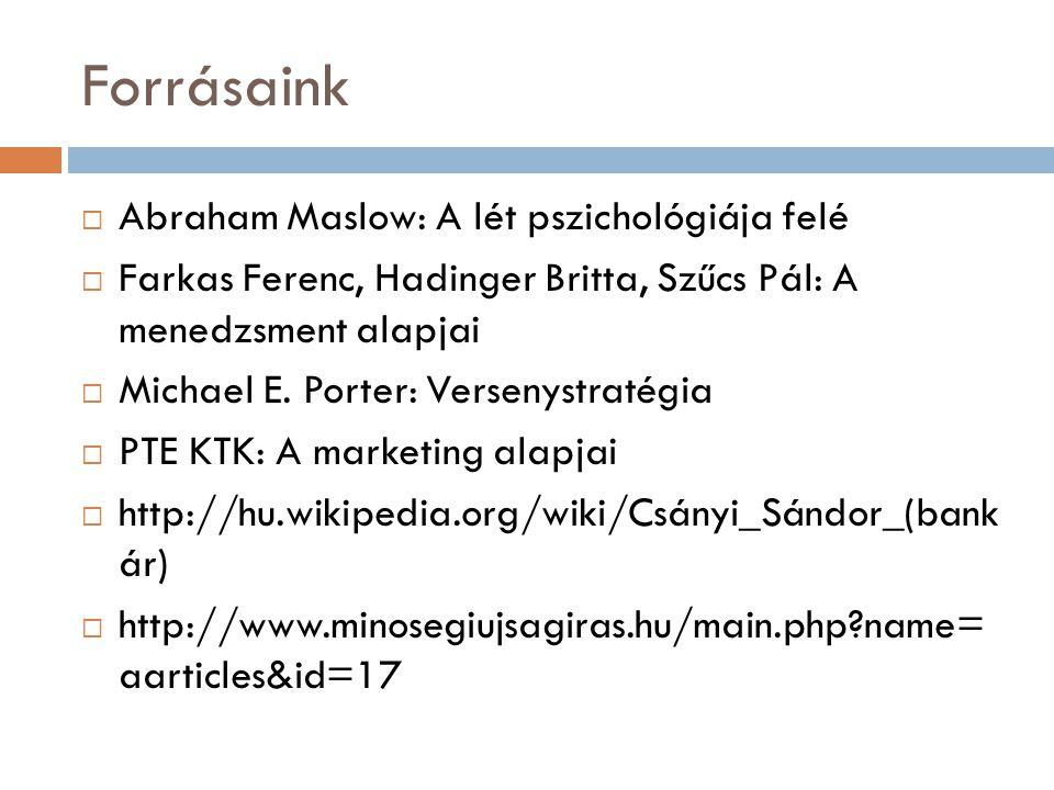 Forrásaink Abraham Maslow: A lét pszichológiája felé
