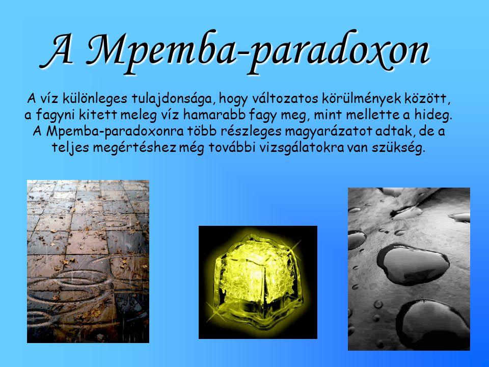 A Mpemba-paradoxon