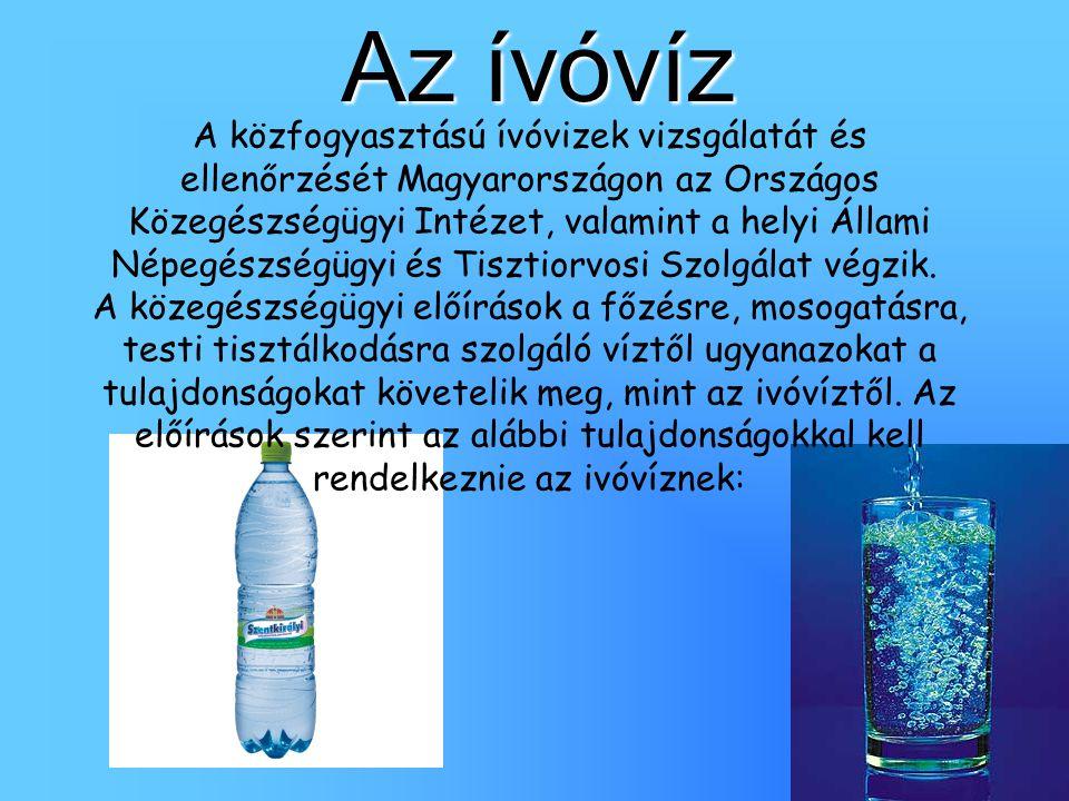 Az ívóvíz