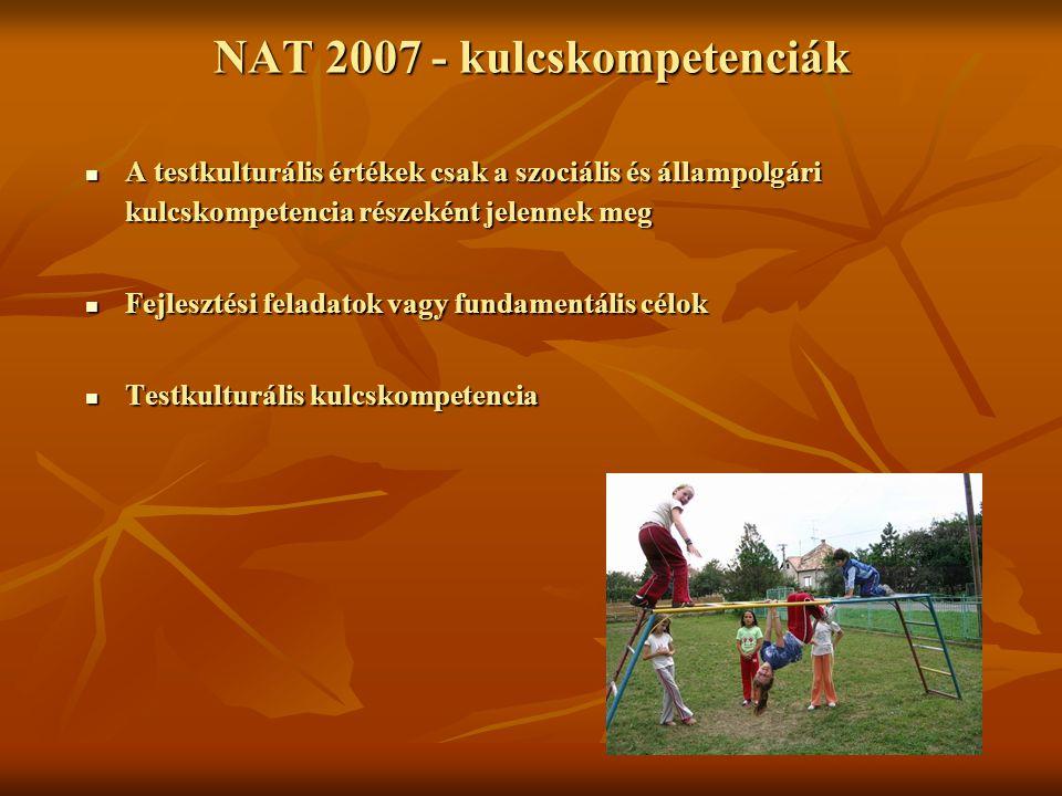 NAT 2007 - kulcskompetenciák