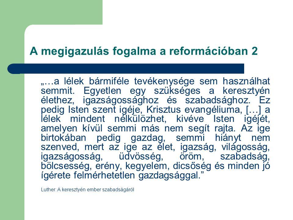 A megigazulás fogalma a reformációban 2