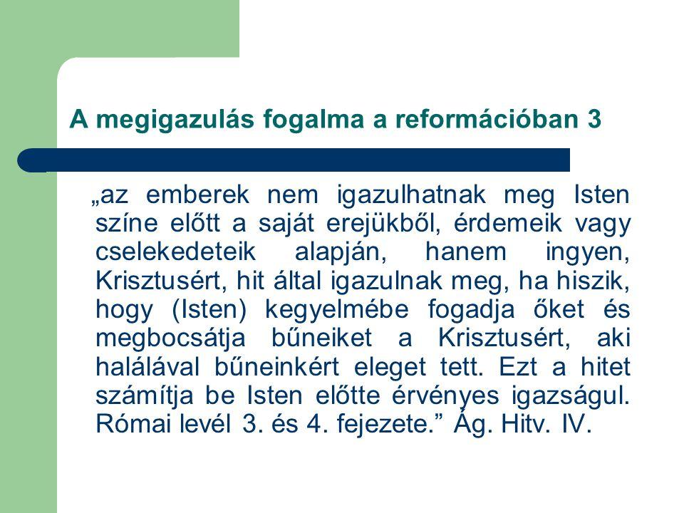 A megigazulás fogalma a reformációban 3