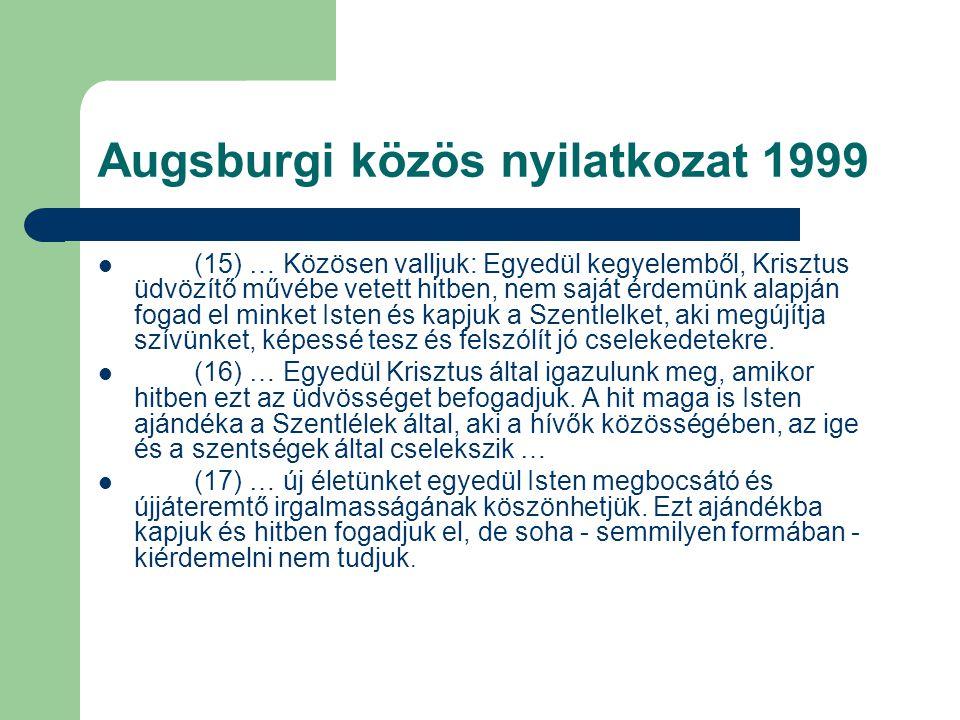 Augsburgi közös nyilatkozat 1999