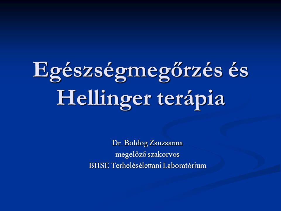 Egészségmegőrzés és Hellinger terápia