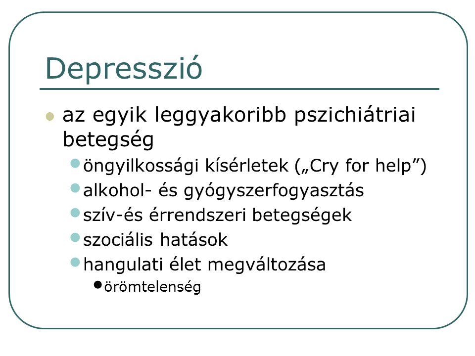 Depresszió az egyik leggyakoribb pszichiátriai betegség