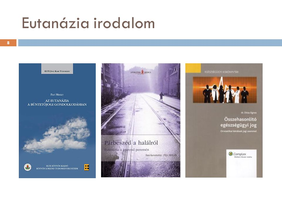 Eutanázia irodalom