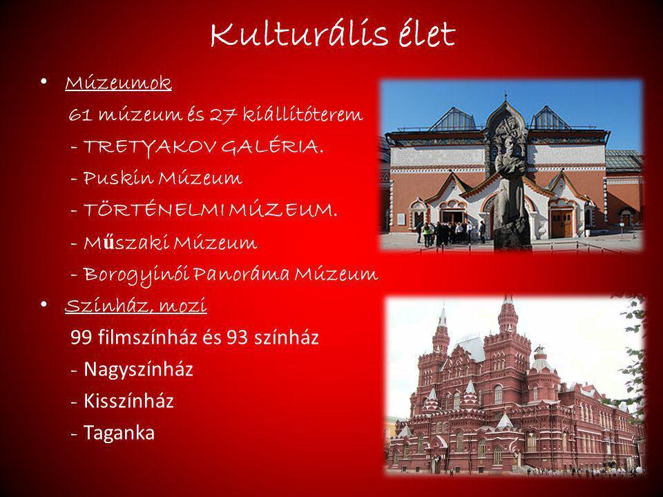Kulturális élet Múzeumok 61 múzeum és 27 kiállítóterem