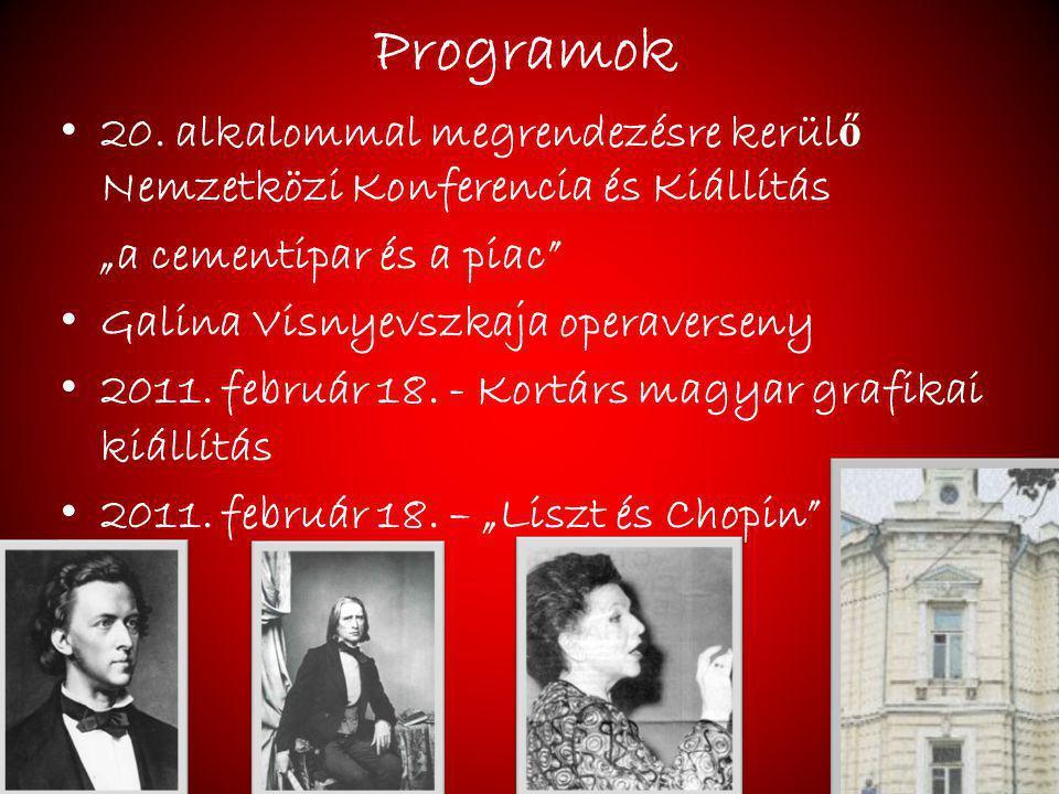 """Programok 20. alkalommal megrendezésre kerülő Nemzetközi Konferencia és Kiállítás. """"a cementipar és a piac"""