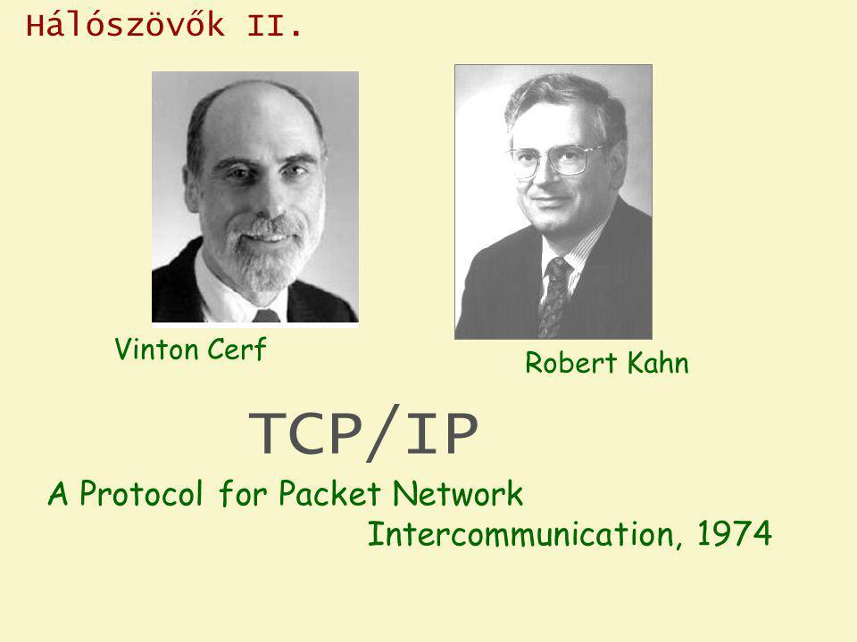 Hálószövők II. Vinton Cerf. Robert Kahn. TCP/IP.