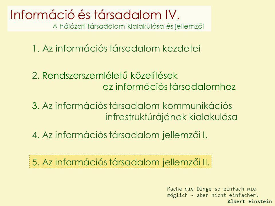 Információ és társadalom IV