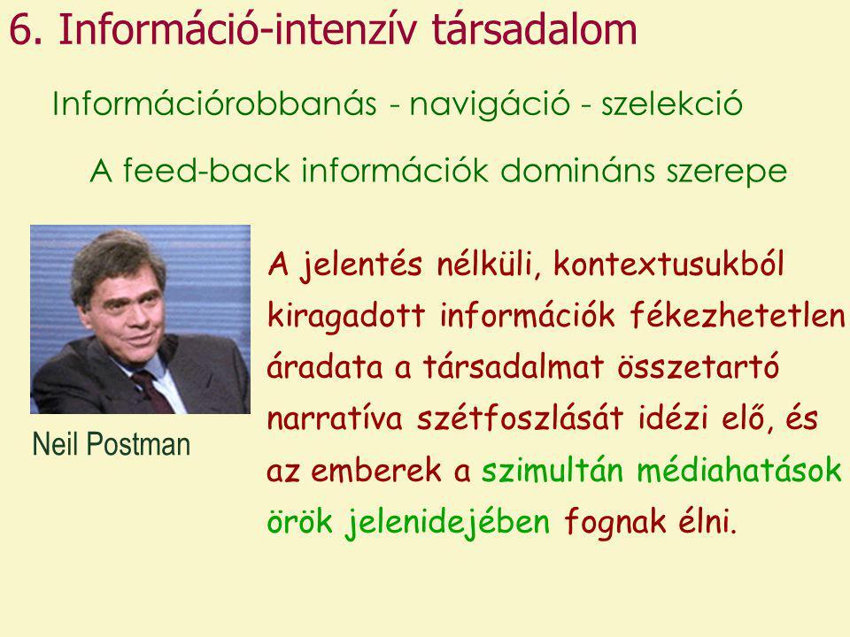 6. Információ-intenzív társadalom