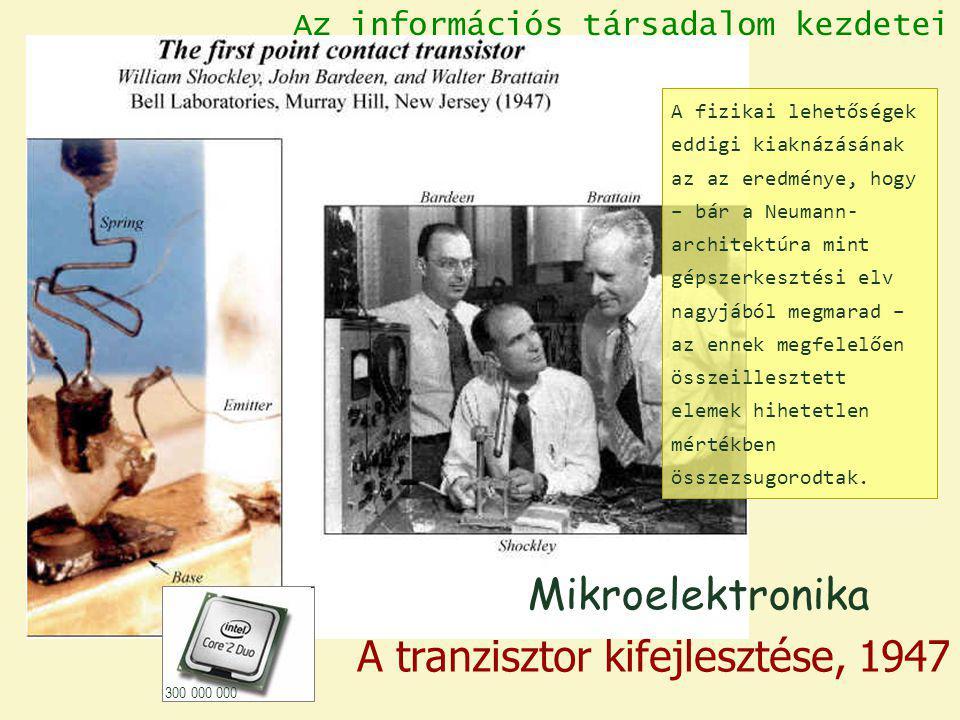 A tranzisztor kifejlesztése, 1947