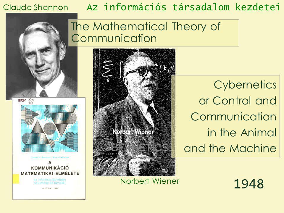 1948 The Mathematical Theory of Communication