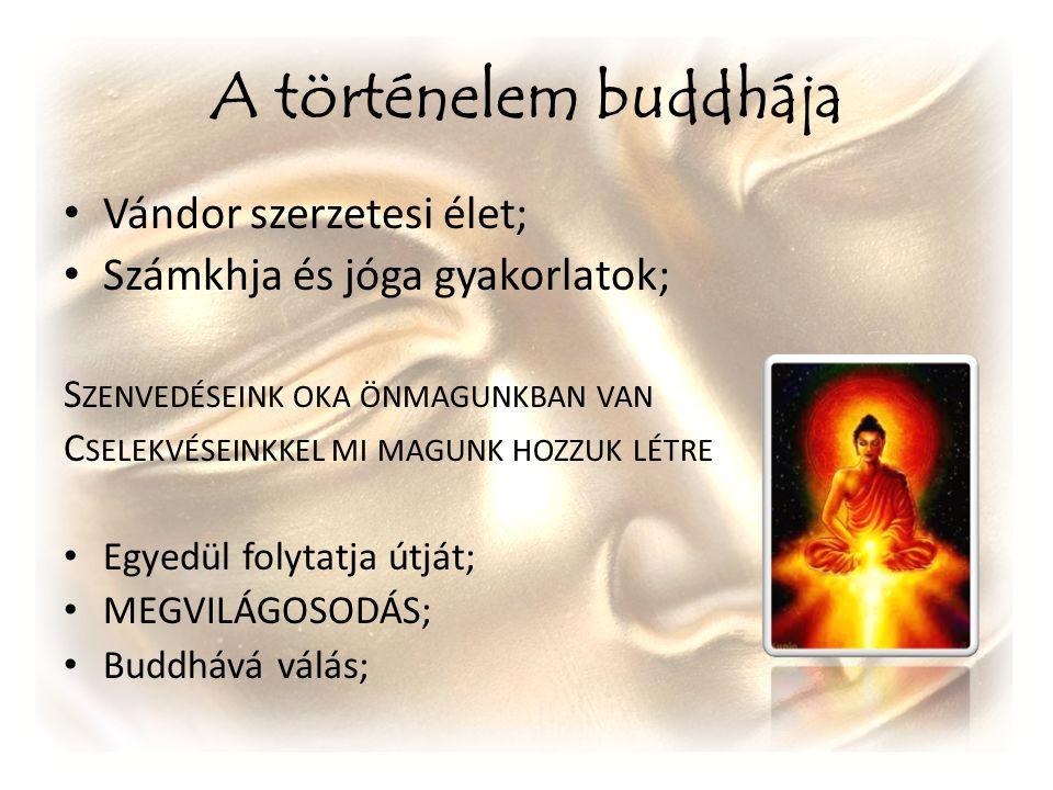 A történelem buddhája Vándor szerzetesi élet;